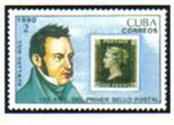 1990. Rowland Hill y Penique Negro, primer sello del mundo